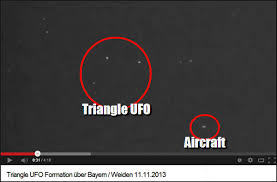 UFO videos over Germany show objects in triangular formation