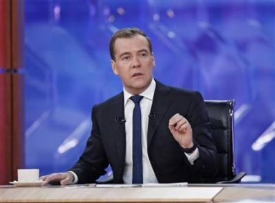 "Russian PM talks Father Christmas, aliens and ""jerks"""