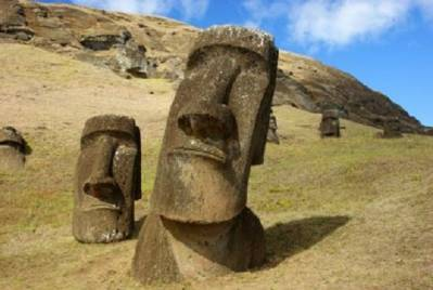 THE HEADS ON EASTER ISLAND ALSO HAVE BODIES