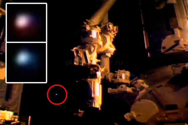 Астронавты на МКС «сбежали» от разноцветного сферического НЛО