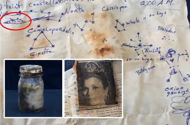 Охотники за сокровищами нашли капсулу времени, оставленную уфологом