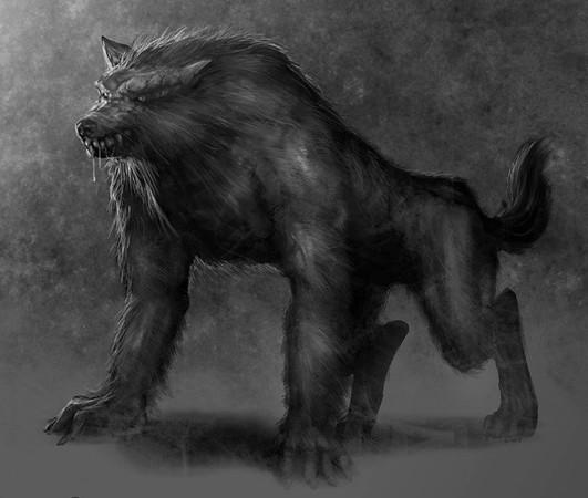 Убивающие людей черные лохматые демоны-монстры из древних ... Лохматый Человек