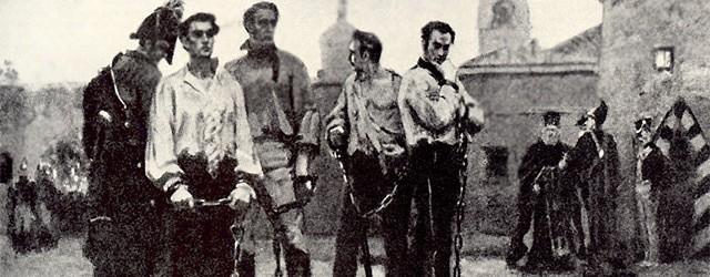 Беспокойные духи казненных декабристов.