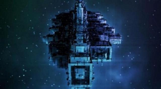 Инопланетный космический корабль на астероиде Лютеция