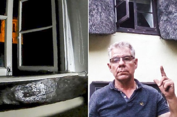 Amazing footage of a ghost opening a window in a haunted cottage