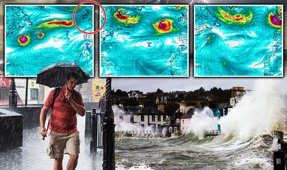Giant Atlantic SUPERSTORM set to smash into Britain NEXT week