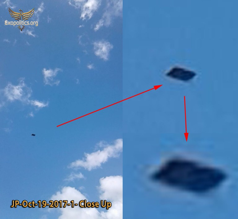 Преднамеренное раскрытие: антигравитационное судно появляется вблизи ВВС США