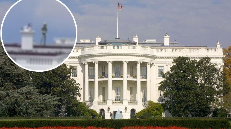 Видео с пришельцем на крыше Белого дома вызвало в Сети бурные обсуждения