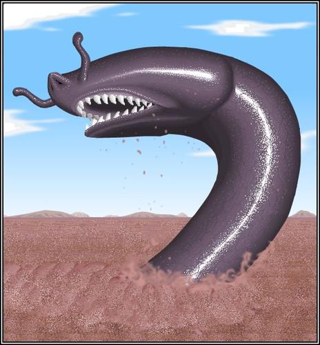 Загадочный огромный червь минхочао из легенд бразильских индейцев