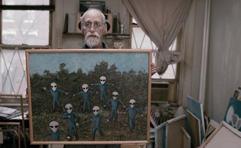 Американец пишет картины о встречах с прекрасными инопланетянками