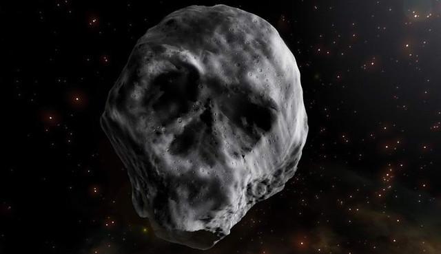 череп, астероид, tb145, земле приближается, гигантский