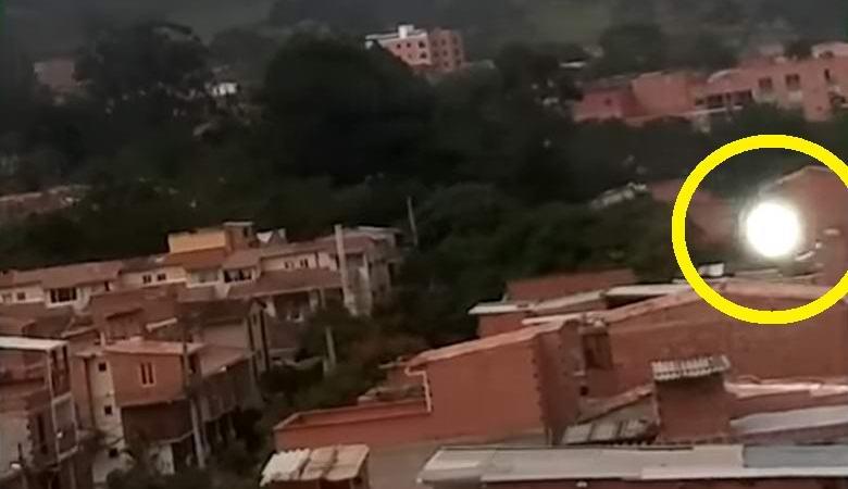 Турист снял на видео загадочный летающий шар, атаковавший его