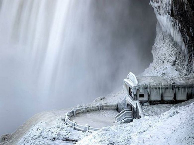 #водопад, #иллюзия, #холод, #ниагарский_водопад, #аномальные_холода