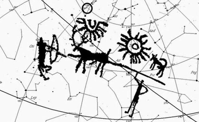 Наскальный рисунок, изображающий космическое бедствие, нашли в Гималаях