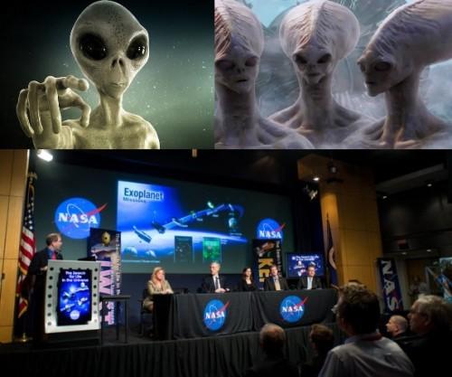 инопланетяне, Конспирология, пресс-конференция