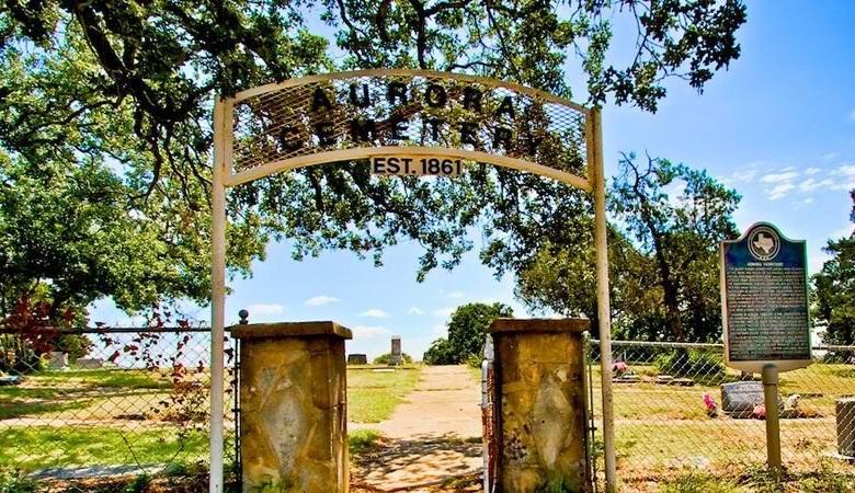 Могила пришельца на кладбище в Авроре, Техас