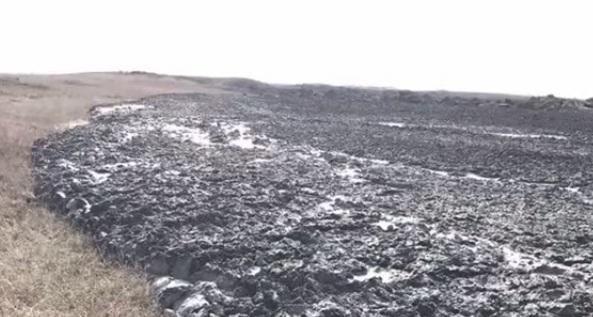 Возле Темрюка активизировался грязевой вулкан Гефест