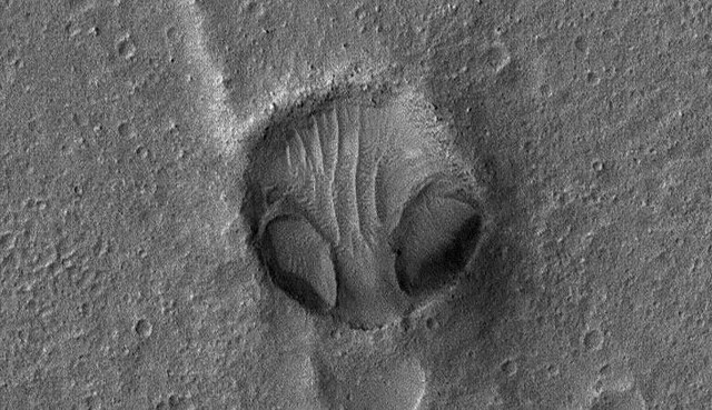 Огромную «голову сердитого пришельца» нашли на фотографиях НАСА