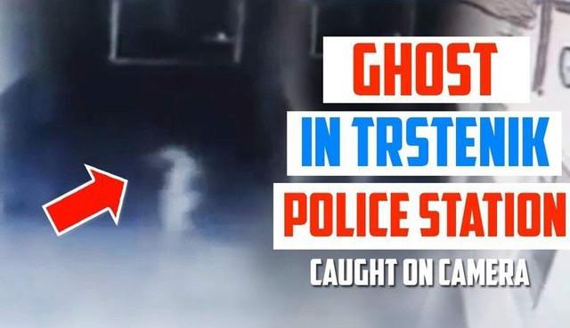 Привидение попало на камеру наблюдения в сербском полицейском участке