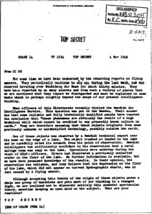 1948 Top Secret USAF UFO extraterrestrial document