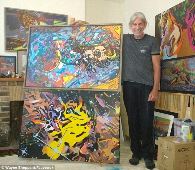 Уэйн Шеппард, художник, инсульт, талант