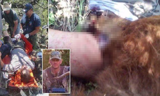 Охотник чудом выжил после схватки с медведем, который решил съесть его ногу