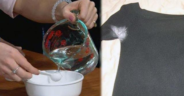 Простой трюк очистит вашу одежду от следов антиперспиранта без химикатов!
