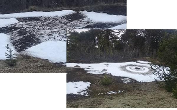 В горах Аргентины на снегу нашли два странных узора. Следы посадки НЛО?