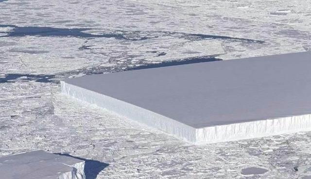 Снимок прямоугольного айсберга поразил Интернет