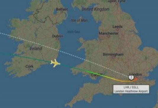 Пилоты двух авиакомпаний сообщили о странных быстро движущихся огнях в небе над Ирландией
