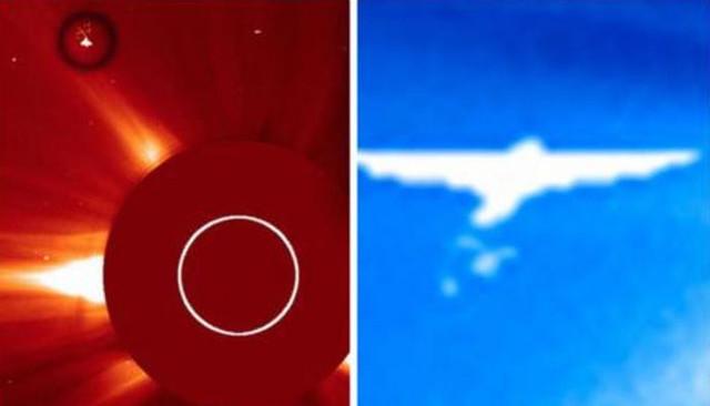 Ангелоподобный НЛО летит к Земле