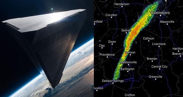 Огромный НЛО перепугал Национальную метеорологическую службу