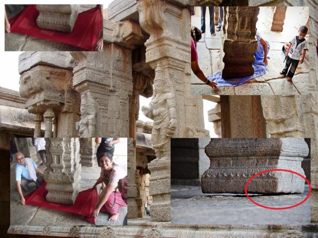 Висящая колонна индийского храма Лепакшми