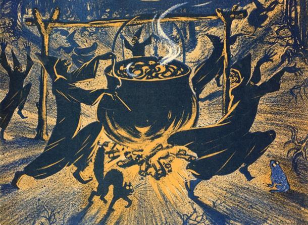 Легенда о средневековой ведьме, родившей... кота