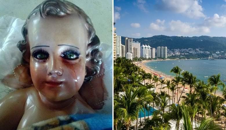 Скульптура младенца Христа «заплакала» в мексиканском Акапулько