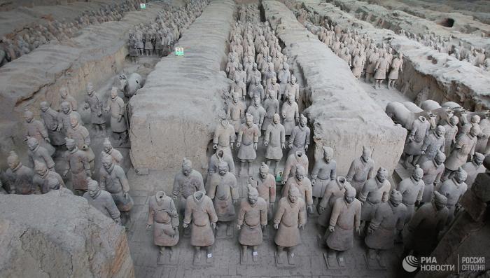 археология, химия, китай, Терракотовая армия