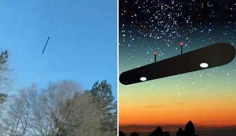 Загадочная черная линия двигалась по небу над Джорджией
