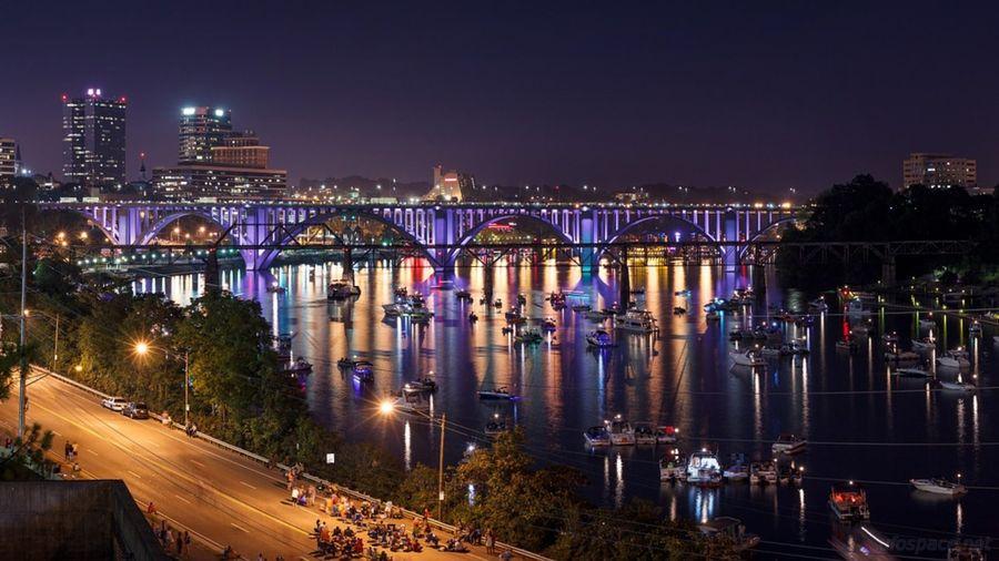 Панорама города Ноксвилл, штат Теннесси