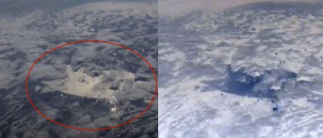 Камеры МКС запечатлели что-то таинственное в земной атмосфере