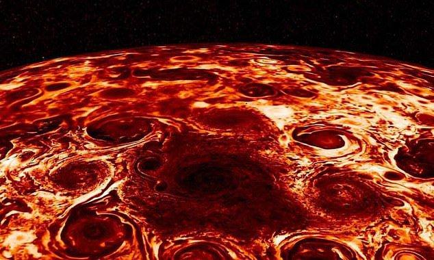 Nasa Показало 9 Штормов На Юпитере В Инфракрасном Свете