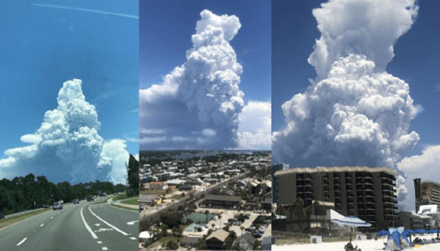 Над Флоридой Замечено Облако Похожее На Ядерный Взрыв