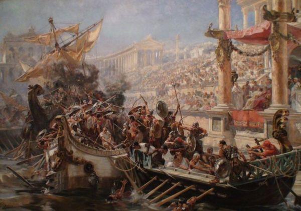 Навмахия: Морское Сражение Гладиаторов В Амфитеатре