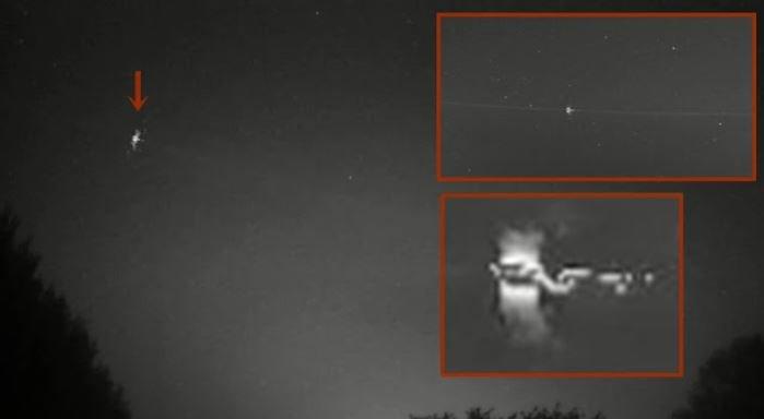 Очень необычный НЛО пролетел над Северной Германией и Нидерландами