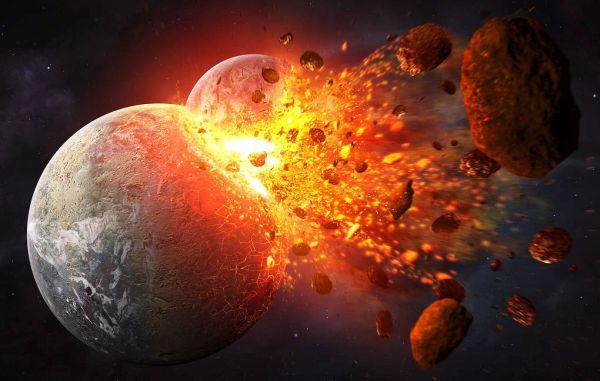 При столкновении с прародителем Луны Земля могла потерять половину атмосферы