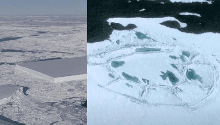 Спутник снова нашел в Антарктиде следы инопланетян