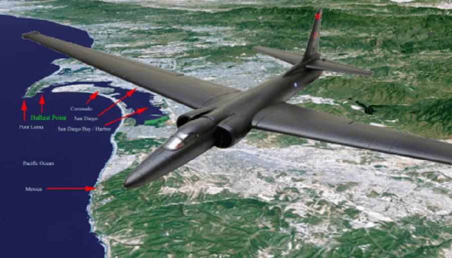 Что разведчик U-2 ищет над Калифорнией?
