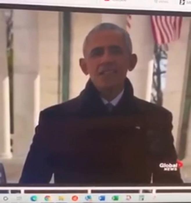 На инаугурацию 20-го января приходила голограмма Барака Обамы?