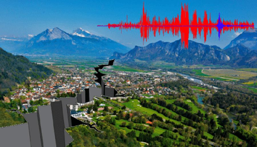 Сенситив предсказывает землетрясение в городе в горной долине
