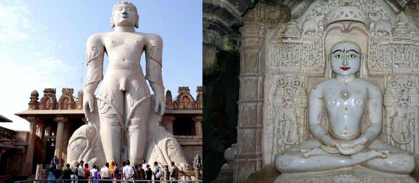 Гигантские каменные статуи индийских джайнских храмов