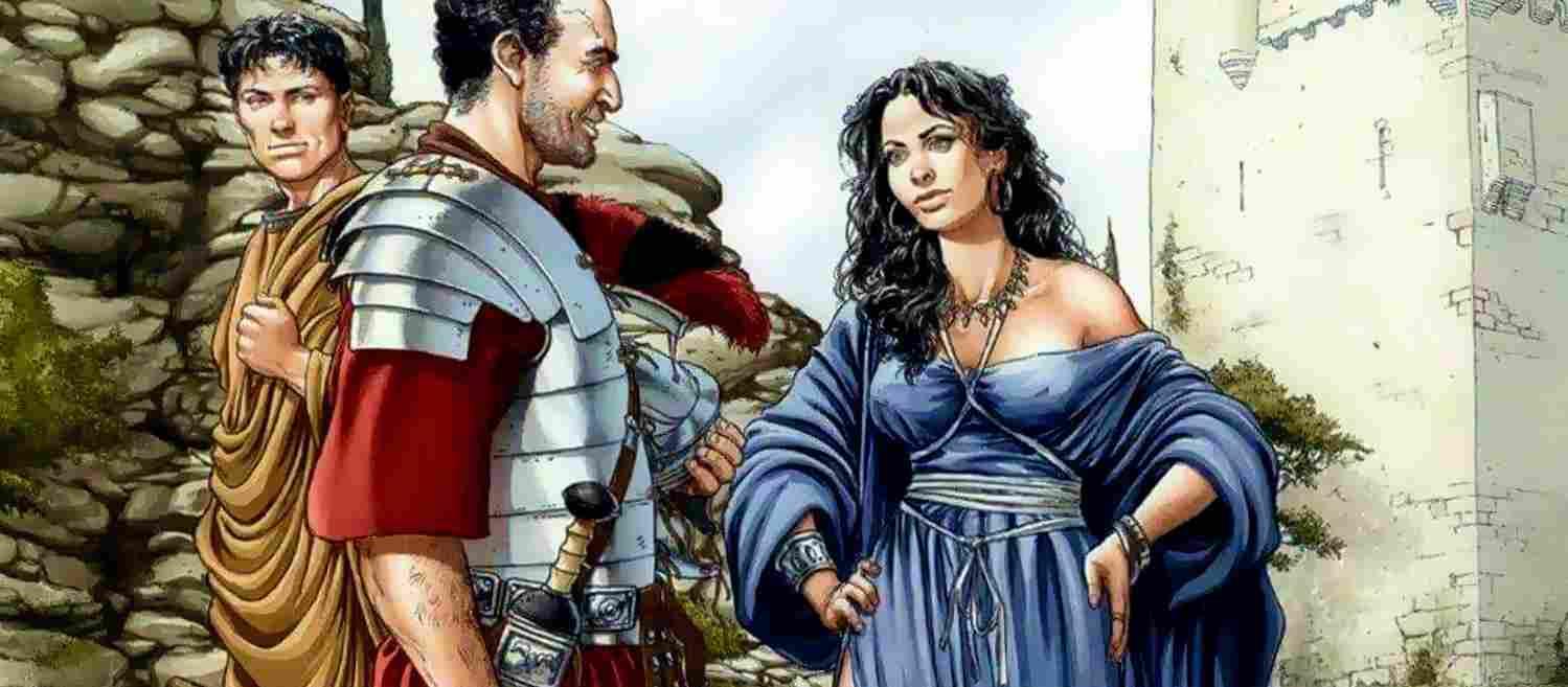 Воины римской армии и женщины